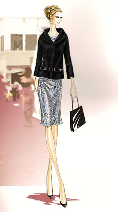 Sketches designer coats of Alya Milusheva