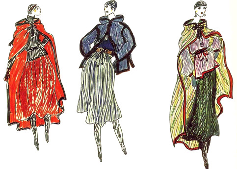 Sketches of Yves Saint Laurent
