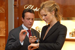 Eva Herzigova and  Caroline  Gruosi-Scheufele opened the first boutique of Chopard in Sofia