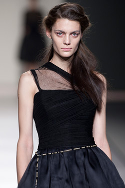 Lydia Delgado triumphed at Madrid fashion week