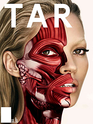 Kate Moss with an unusual American magazine cover