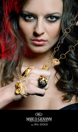 Diana Ivancheva presenting the latest collection luxury jewellery Marco Giovanni