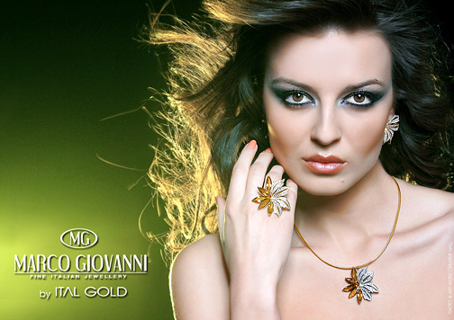 Diana Ivancheva presenting the latest collection luxury jewelery Marco Giovanni