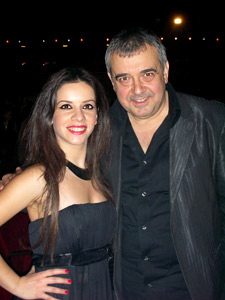 Elitsa Todorova and Lubomir Stoykov at the concert of Lili Ivanova in Olympia Hall
