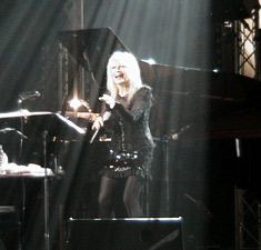Lili Ivanova during her concert in Olympia Hall