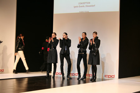 Markam fashion walked like The Queen`s warrior at the CPD trend show in Dusseldorf