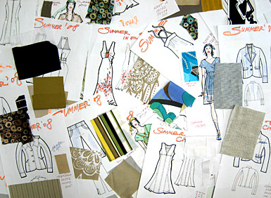 Collage of sketches from the new collection - SPRING/SUMMER 2008