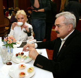 Baron Kiril Gendovich and his wife Vera Gendovich
