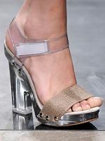 Prada's shoes symbolize the end of recession