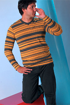 Stripes are still in fashion and prevail in the wardrobe of the elegant man