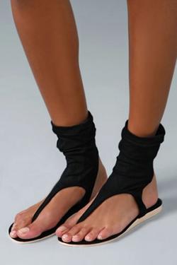 Bahia Elastic Sock Thong Sandal