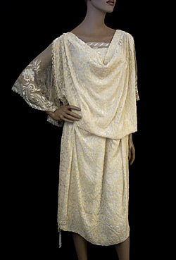 Devoré velvet dress, early 1920s