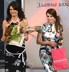Tsveti Brankova and Silva Borisova from ZEBRA Fashion house with the prize in their hands