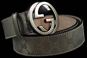 Gucci belt, encrusted with diamonds is the world's most expensive belt