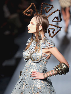 Jean paul gaultier presented his spring summer 2010 haute for American haute couture designers