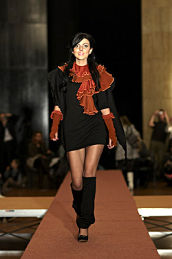 ГBig Christmas fashion show of fashion students in New Bulgarian university