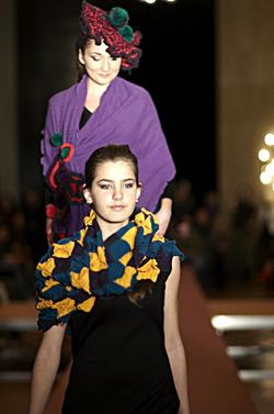 Big Christmas fashion show of fashion students in New Bulgarian university