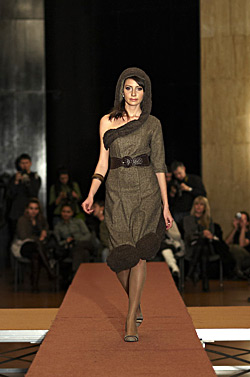 Big Christmas fashion show of fashion students in New Bulgarian university
