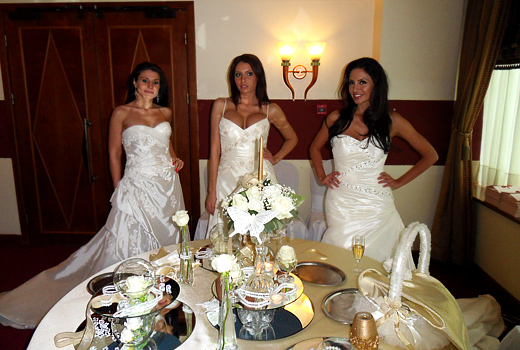 Zlatka Dimitrova, Gabriella and Natalia Gurkova as brides