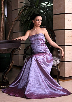 Antonina shot photo session with the dresses of Jana Kosheva
