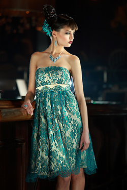 Turquoise dress for prom 2010