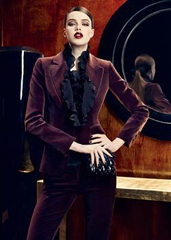 Silk and velvet in the Autumn collection of Karen Millen