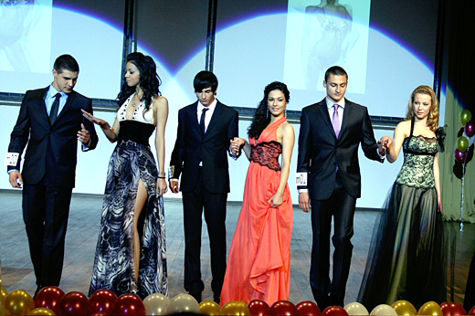The most beautiful student from UNWE for 2011 was shining in a dress from Atelier SIMON