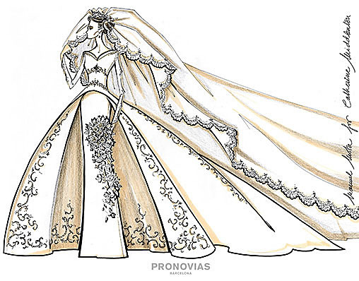 Manuel Mota designed the proposals for Kate Middleton's wedding dress