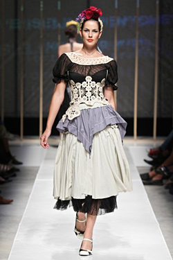 Spring-Summer 2011 collection by Vesselina Pencheva, inspired by the paintings of Frida Kahlo