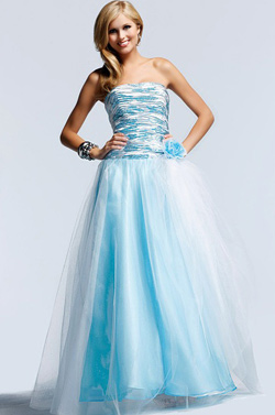 Prom dress in blue
