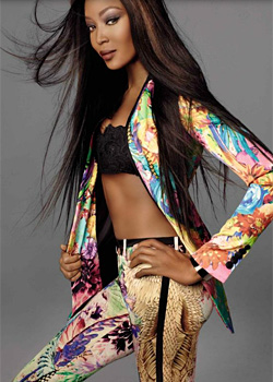 Naomi Campbell As Star In Cavalli New Campaign