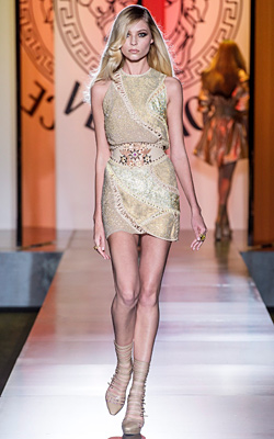 Donatela Versace presented collection Fall-Winter 2012-2013 at Paris Haute Couture Fashion Week