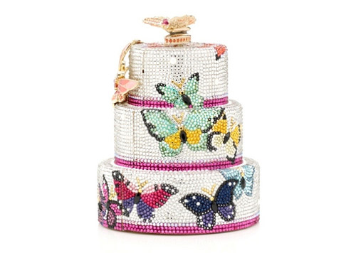 Judith Leiber created Butterfly Kisses Crystal Cake luxury clutch