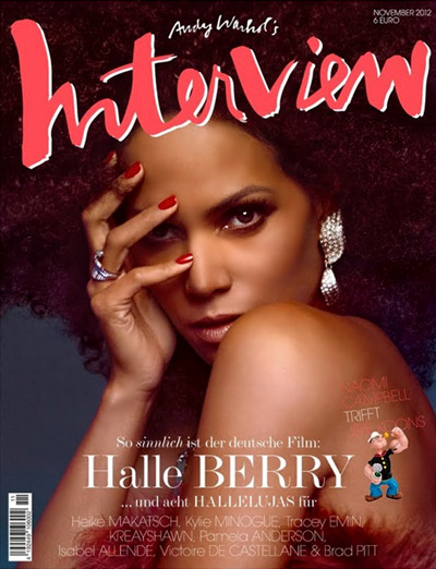 Halle Berry on her second cover for Interview Magazine Germany