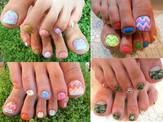 The summer secrets of the pedicure. Ideas for 2012