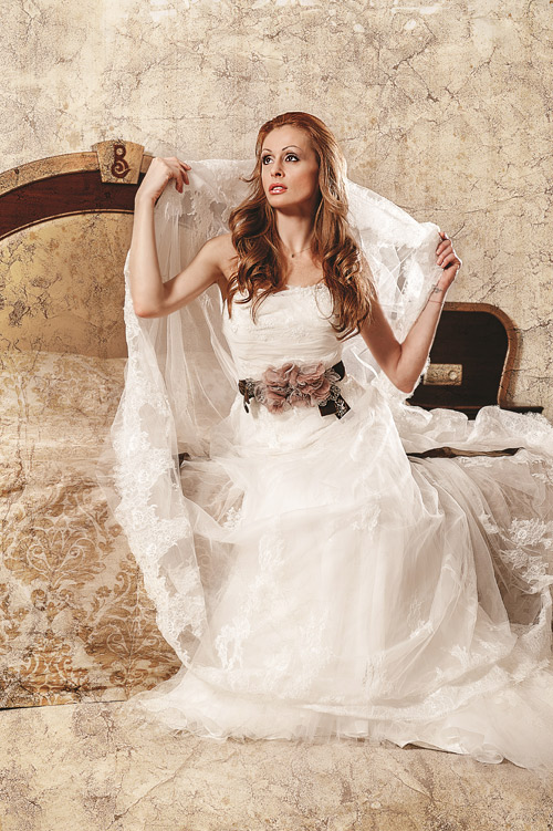 Tsveti Razlojka in an exclusive photo shoot with Bridal Fashion's dresses