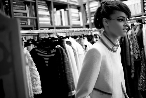 Kremena Otashliyska in photosession of Karl Lagerfeld for Chanel
