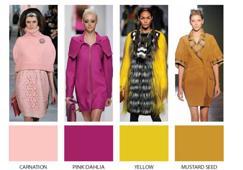 Fashion trends through the colors