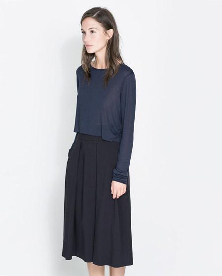 Long Sleeve T-Shirt From Zara