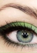 The green make-up tutorial - it's gorgeous